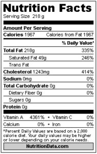Fish Oils Nutrition Facts